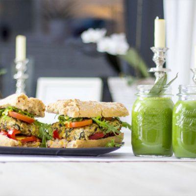 Zucchini-Tofu Sandwich